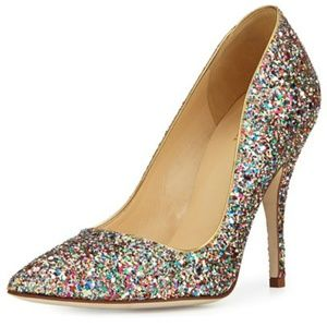 Kate Spade New York Licorice Glitter Pumps Shoes